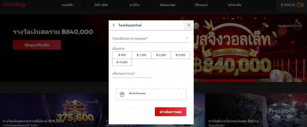Bodog withdraw